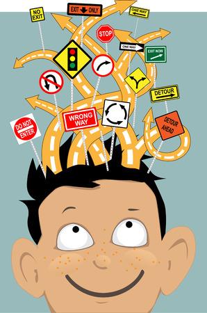 주의력 결핍 과잉 행동 장애 일러스트