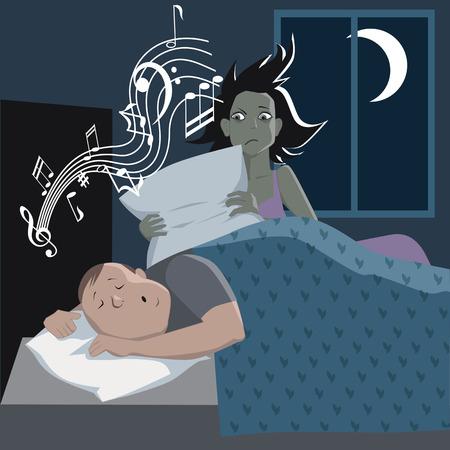 snoring: Problem with snoring Illustration