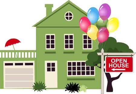 house: Open house  Illustration