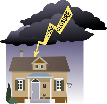 Risk of foreclosure Ilustrace