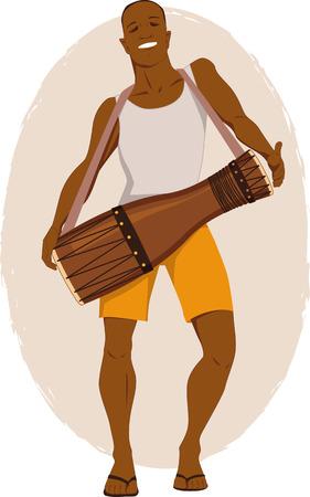 caribbean party: Bata m�sico tambor Vectores