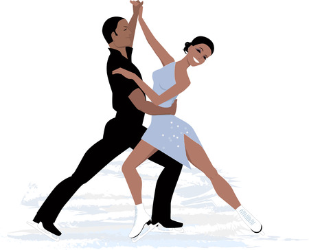 Couple ice dancing