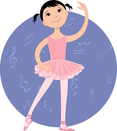 귀여운 작은 발레 댄서