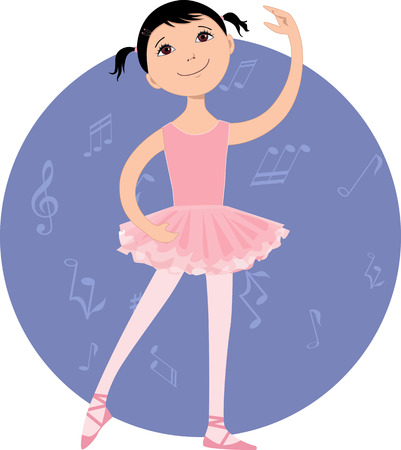 after school: Cute little ballet dancer