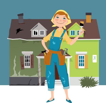 Flipping a house Vector