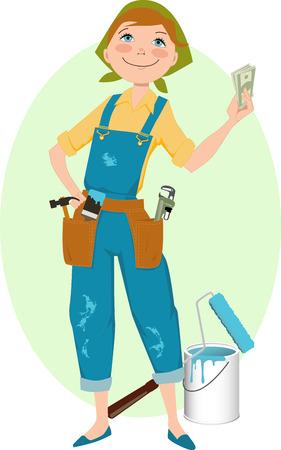 handy: Save money on renovation.  Illustration