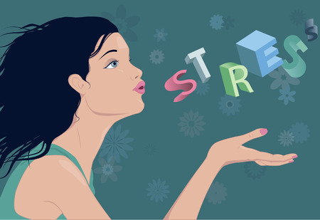 Reducing stress Illustration