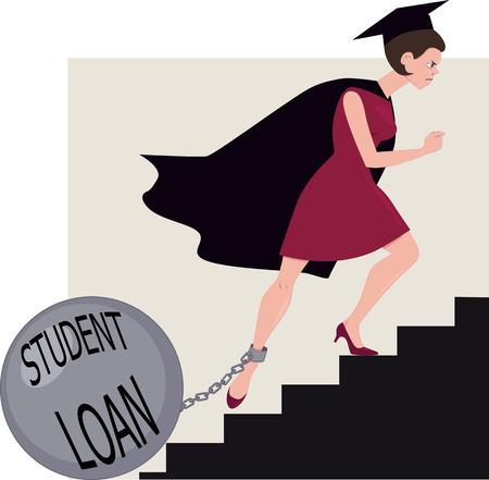 Student půjčka zátěž Ilustrace