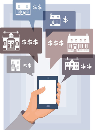 Mobile search for real estate Vector