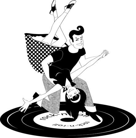 黒と白で踊るロックン ロール