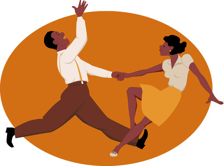 jive: Dancing jitterbug Illustration