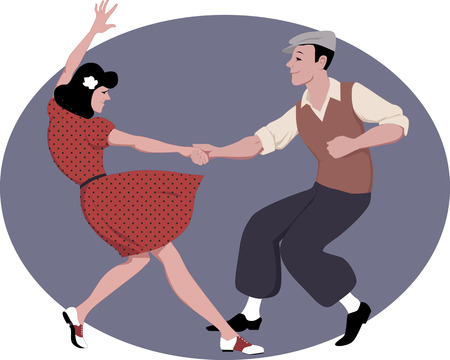 tanzen: Lindy Hop tanzen Illustration