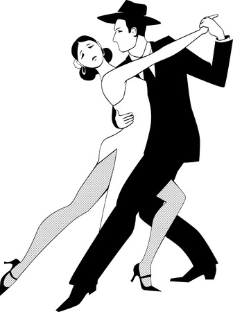 spanish dancer: Tango clip art Illustration