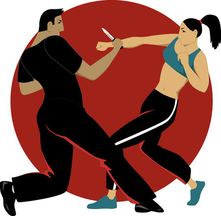 Self-defense for women Illustration
