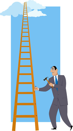 Building a ladder of success Illustration