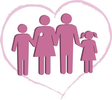 Breast cancer patient family support Ilustração
