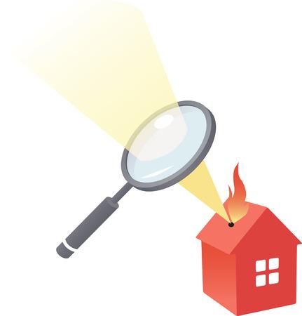House under scrutiny Vector