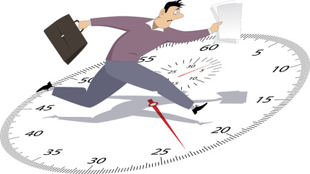 work stress: Businessman in a hurry