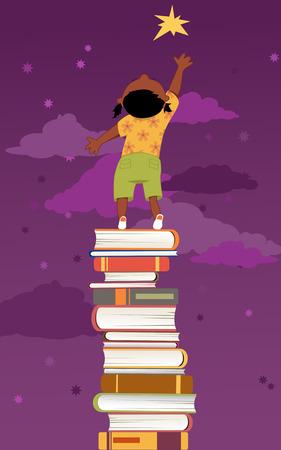 중요: 어린이 개발을위한 독서의 중요성 일러스트