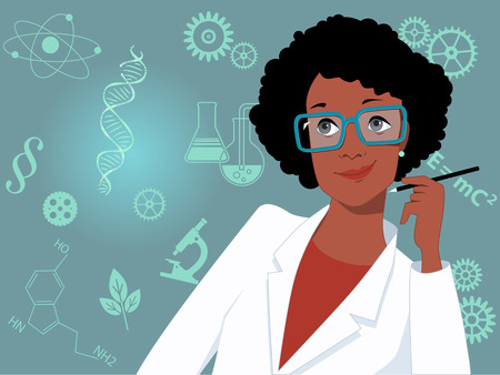 Career for women in science and technology Vettoriali