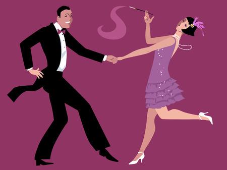 in charleston: Dancing the Charleston Illustration