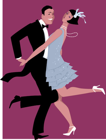 flapper: Charleston dancing Illustration