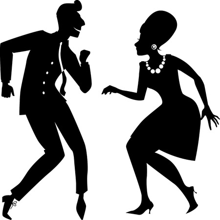 La silhouette de Twist Banque d'images - 36058623