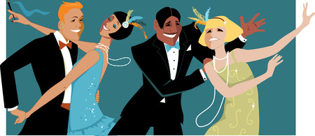 flapper: 1920s style dancing party EPS 8 Illustration