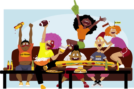 cartoon friends: Football party