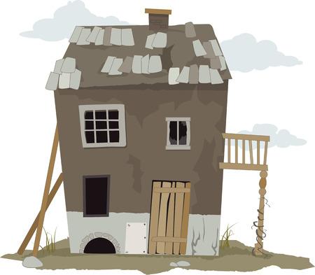 casale: Piccola, malandato, casa baraccopoli, illustrazione vettoriale, ESP 8, non lucidi Vettoriali