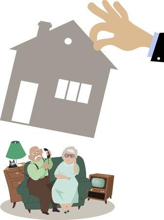 유질 처분, 일러스트, 아니 투명에 집을 잃고하는 고위 커플