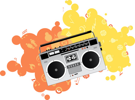 Classic boombox, EPS 8 vector illustration, no transparencies