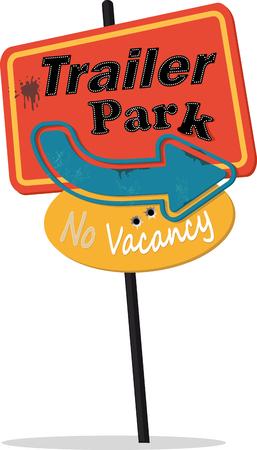 Vintage style signe parc à roulottes Banque d'images - 61290216