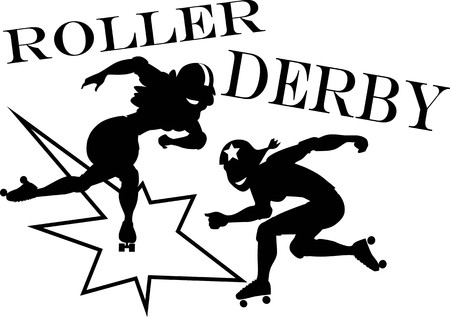 roller: Two roller derby players
