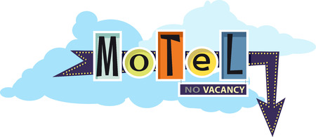 Old-fashion motel sign, EPS 8 vector illustration, no transparencies