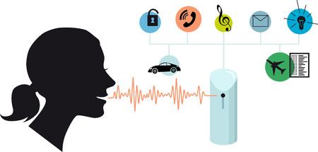 Assistente vocale, illustrazione concettuale vettoriale EPS 8 Vettoriali