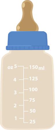 Realistyczna ilustracja wektorowa butelki dla niemowląt, EPS 8 bez folii