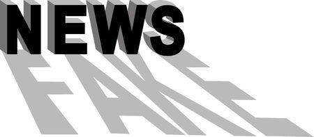 Fake news conceptual illustration, vector illustration Ilustração