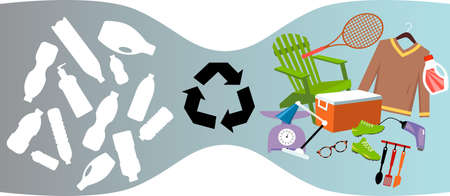 Plastic bottles recycled into consumer goods