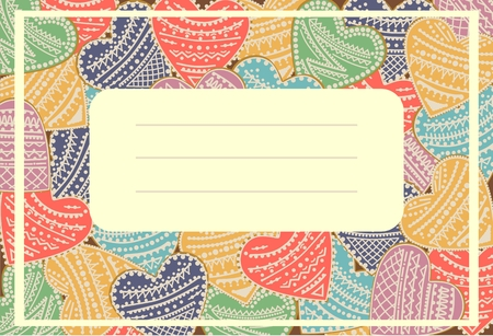 ard: Greeting ard. Invitation card. Vector illustration