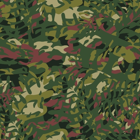 Vector pattern with camouflage coloring in greenish-brown tones of forest and tropical texture. Element of design.