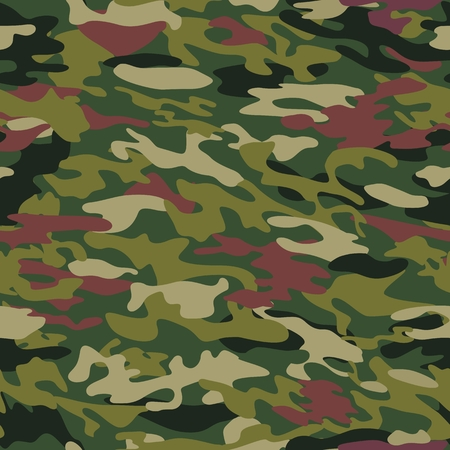 Vector pattern of camouflage with a coloring in the style of forest, jungle, tropic in green-brown colors. Element of design. Çizim