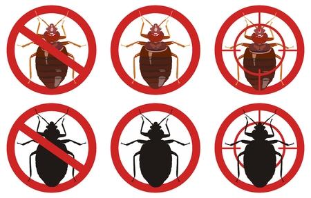 害虫防除のセットは、ベクター グラフィックを署名します。