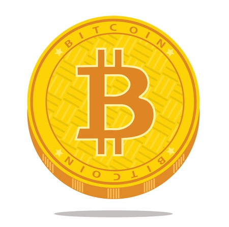 Crypto currency bitcoin icon. Vector illustration.
