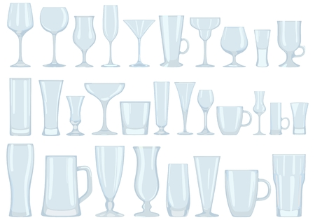 collins: Set of transparent glasses.