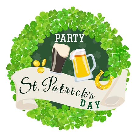 St. Patrick's Day party green poster. Standard-Bild - 97050641