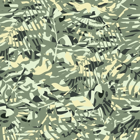 Seamless pattern of camouflage color for clothes, uniforms. Vector illustration.
