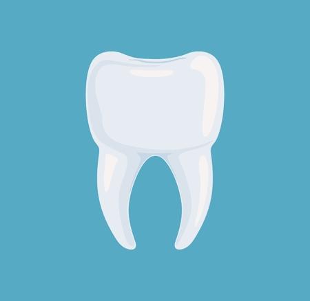 Symbol gesunde weiße Wurzel Zahn Vektor-Illustration Standard-Bild - 98880103