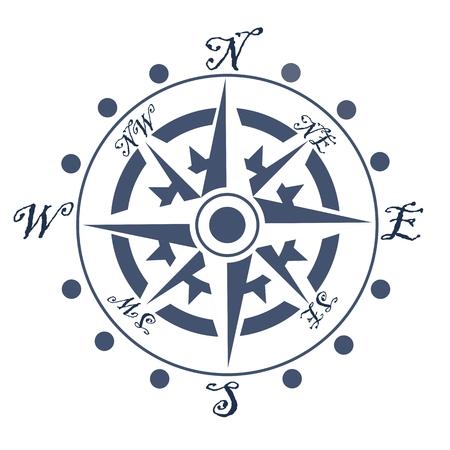 Detailed navigation compass disk. Vector illustration Standard-Bild - 100297038