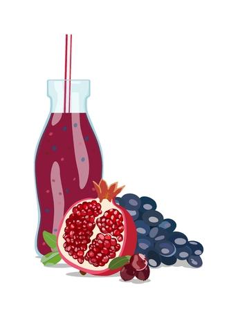 Fruit smoothie in glass jar. Vector illustration Standard-Bild - 102195219